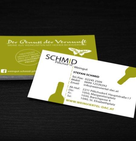 visitenkarte vom Weingut Schmid